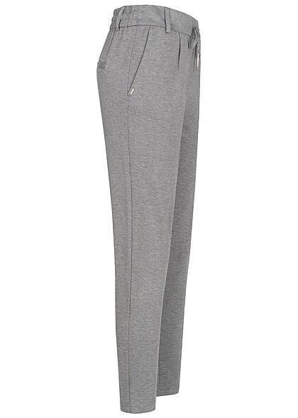 ONLY Damen NOOS Poptrash Stoffhose 2-Pockets Tunnelzug medium grau melange