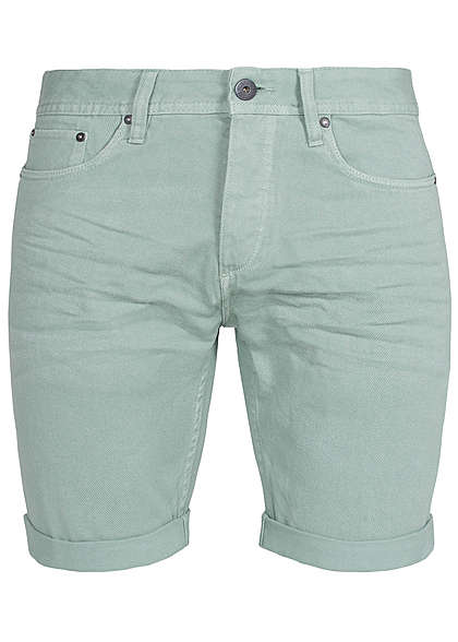 Jack and Jones Herren Jeans Shorts 5-Pocket Regular Fit granite grün