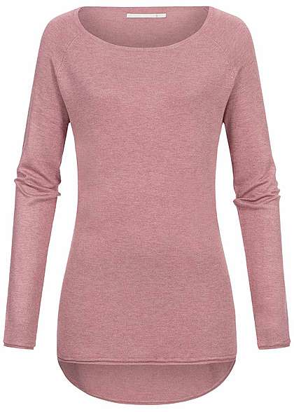ONLY Damen Sweater Rollkante NOOS mesa rosa