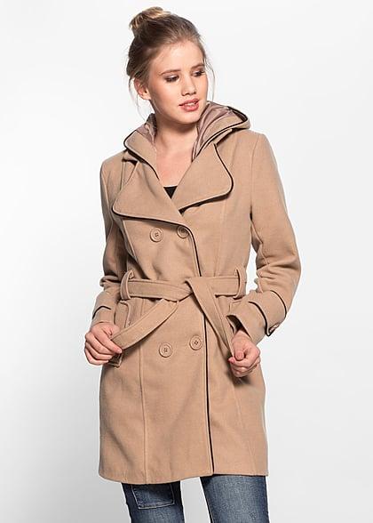 Atemberaubend Styleboom Fashion Damen Fleece Mantel abnehmbare Kapuze @ZY_86
