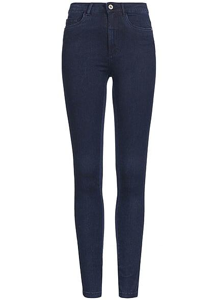 6f225e272504 ONLY Damen Skinny Jeans NOOS 5-Pocket Style High Waist dunkel blau denim -  77onlineshop