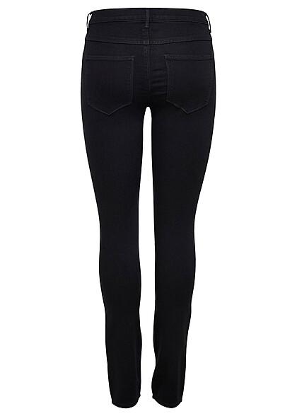 ONLY Damen NOOS Skinny Jeans 2-Pockets Regular Waist schwarz denim