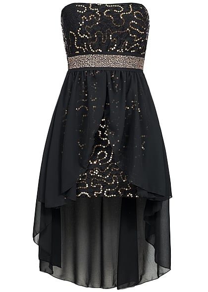 Kleid mit pailletten schwarz
