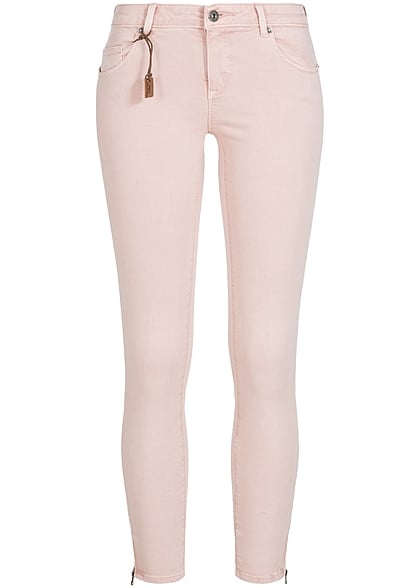 ONLY Damen Skinny Jeans Hose 5-Pockets Knöchellang Zipper NOOS peach whip rosa