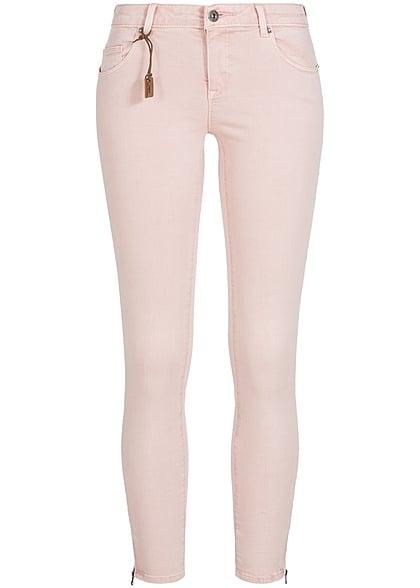 1ba4a2bd3900 ONLY Damen Skinny Jeans Hose 5-Pockets Knöchellang Zipper NOOS peach whip  rosa - 77onlineshop