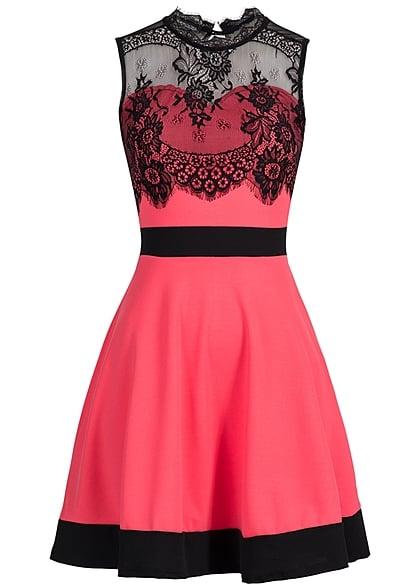Kleid lang coral
