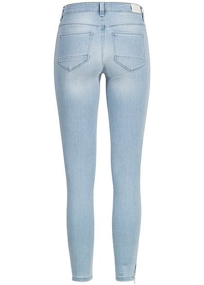 ONLY Damen Ankle Skinny Jeans 5-Pockets Regular Waist NOOS Zipper hell blau denim