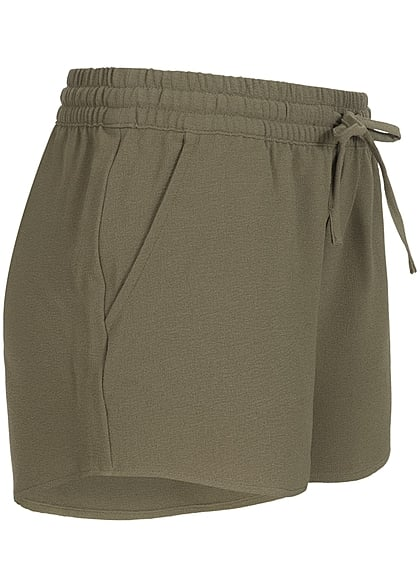 ONLY Damen NOOS Shorts 2-Pockets Tunnelzug kalamata oliv grün