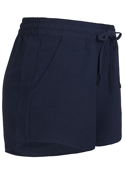 ONLY Damen NOOS Shorts 2-Pockets Tunnelzug night sky navy blau