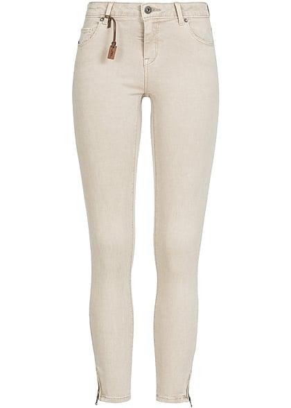 0bd01848322b ONLY Damen Skinny Jeans Hose 5-Pockets Knöchellang Zipper NOOS pure  cashmere beige - 77onlineshop