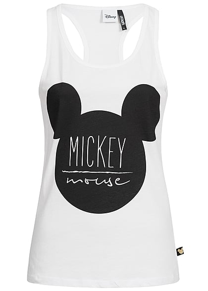 Hailys Damen Tank Top Mickey Mouse Print weiss