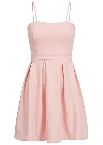 Styleboom Fashion Damen Mini Kleid verstellbare Träger Brustpads rosa