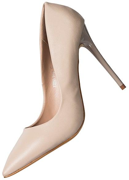 74b2ca1d9be8c1 Seventyseven Lifestyle Schuh Damen Pumps Absatz 11cm beige - 77onlineshop