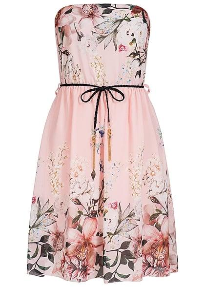 Fashion Styleboom Blumen Bandeau Muster Kleid Kordel Mini Damen WbeDH9YE2I