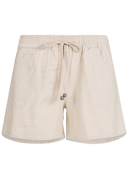 00b5c10acdc2 XS · ONLY Damen Short Tunnelzug 2 Taschen Gummibund peyote beige
