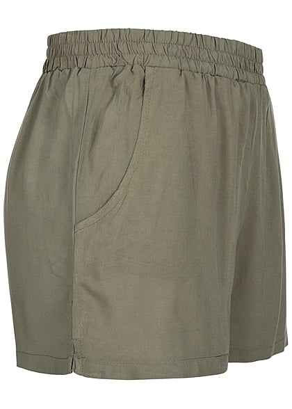 Eight2Nine Damen Short Gummizug 2 Taschen lockerer Schnitt by Fresh Made olive