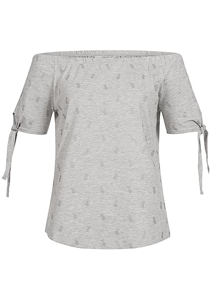 ONLY Damen Top grau melanange