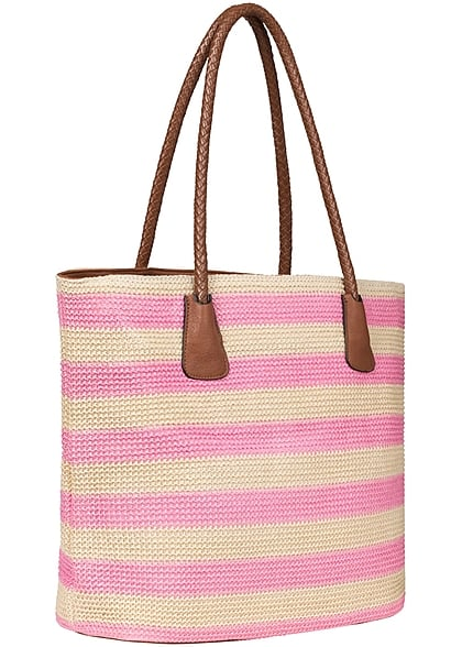 d0812ce995119 Styleboom Fashion Damen Handtasche pink beige - 77onlineshop