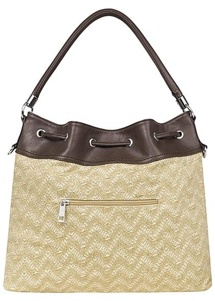 Styleboom Fashion Damen Handtasche beige