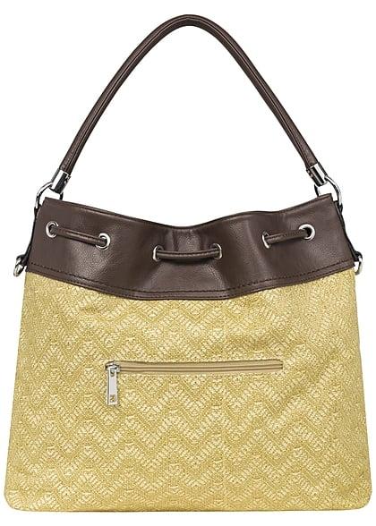 Styleboom Fashion Damen Handtasche gelb