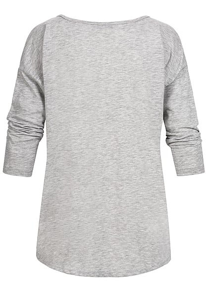 ONLY Damen Sweater Einhorn hell grau melange