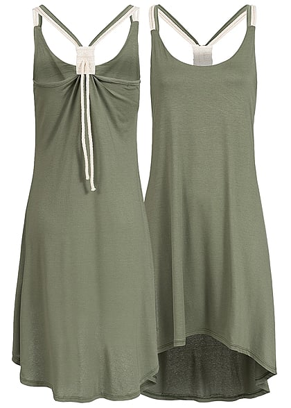 Styleboom Fashion Damen Kleid khaki