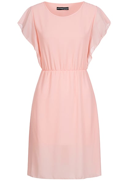 Styleboom Fashion Chiffon Kleid rosa