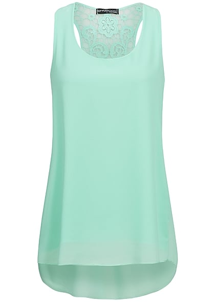 Styleboom Fashion Damen Top mint grün