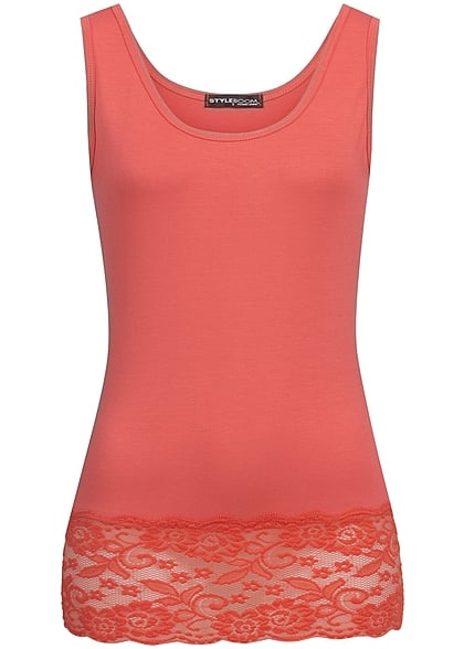 Styleboom Fashion Damen Tank Top coral rot