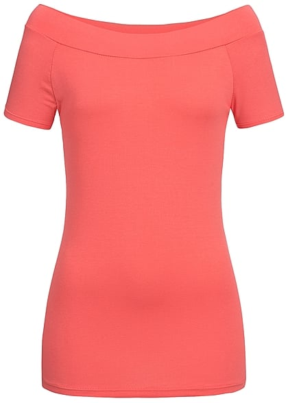 Styleboom Fashion Damen Top coral rot