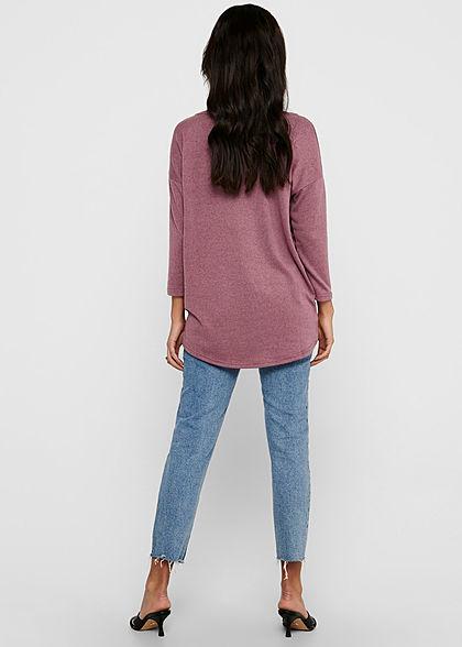 ONLY Damen NOOS 4/5 Arm Shirt Vokuhila mesa rose