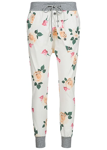 styleboom fashion damen sweat pant rosen 2 taschen tiefer. Black Bedroom Furniture Sets. Home Design Ideas