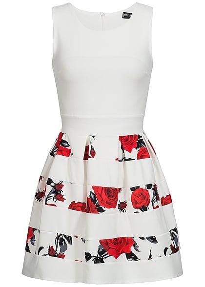 official photos 4a77d ccc56 Styleboom Fashion Damen Kleid Blumen Muster gestreift weiss rot schwarz