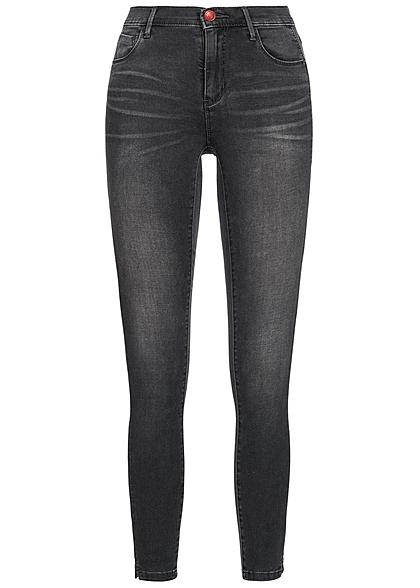 44bfe1488e2e94 ONLY Damen Skinny Ankle Jeans Hose 5-Pockets dunkel grau denim -  77onlineshop