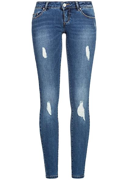 only damen skinny jeans hose destroy look 5 pockets noos. Black Bedroom Furniture Sets. Home Design Ideas