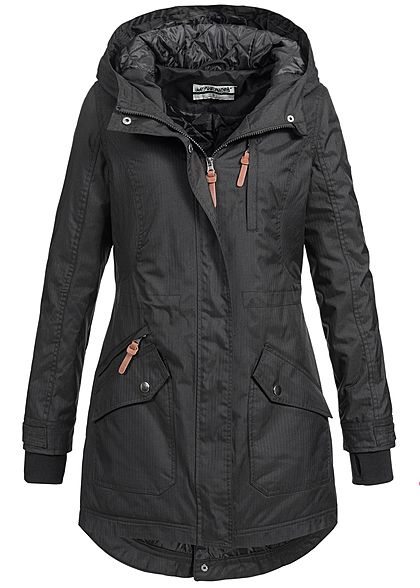 seventyseven lifestyle damen winter parka kapuze 4 taschen. Black Bedroom Furniture Sets. Home Design Ideas
