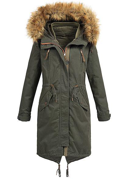 only damen winter mantel kapuze abnehmb kunstfell. Black Bedroom Furniture Sets. Home Design Ideas