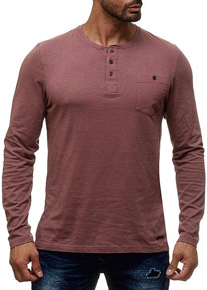3316cb9d23c740 Seventyseven Lifestyle Herren T-Shirt Longform Brusttasche khaki ...