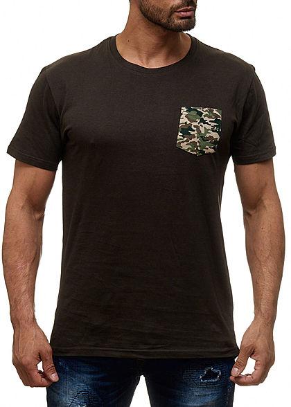 2b227e12b53a24 Seventyseven Lifestyle Herren T-Shirt Longform Brusttasche khaki grün  camouflage - 77onlineshop