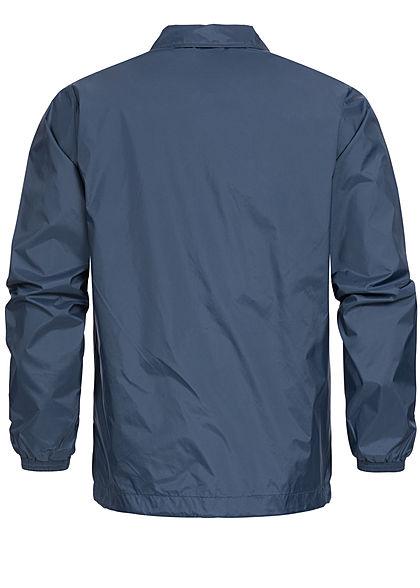 Eight2Nine  Men Button Down Windbreaker Jacket by Sublevel navy