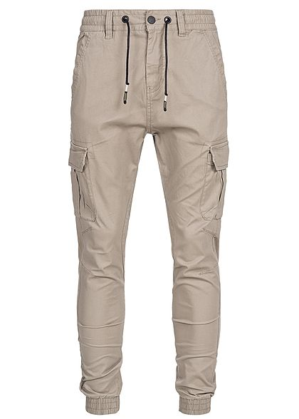 Eight2Nine Men Cargo Pocket Pants beige brown
