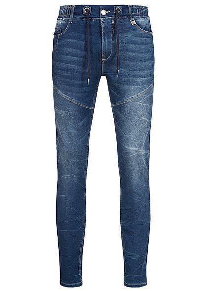 Eight2Nine Men 5-Pockets Slim Fit Jogg Jeans by Sublevel Denim middle blue denim