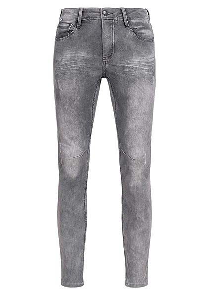 Eight2Nine Men 5-Pockets Skinny Fit Jeans by Urban Surface grey denim