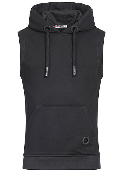 Seventyseven Lifestyle Men Fat Lace Sleeveless Hoodie  black