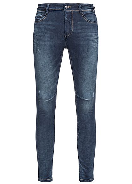 Eight2Nine Men 5-Pocket Skinny Fit Jeans dark blue by Urban Surface dark blue