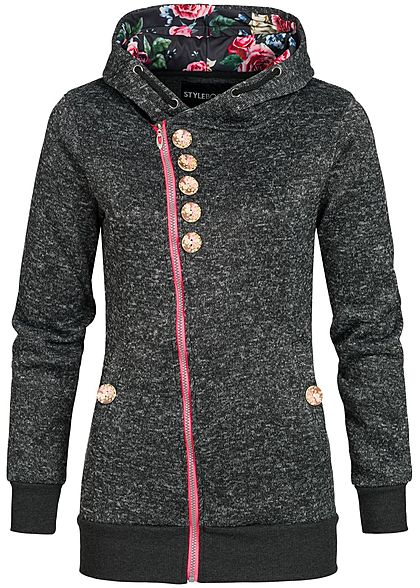 zip hoodies damen hooded zipper online shop 77onlineshop. Black Bedroom Furniture Sets. Home Design Ideas