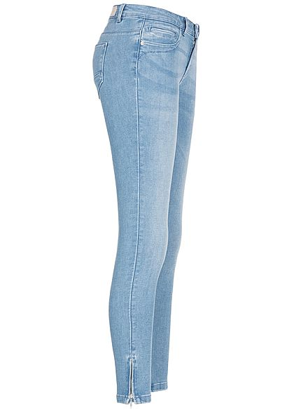 ONLY Damen Ankle Skinny Jeans Regular Waist 5-Pockets NOOS hell blau denim