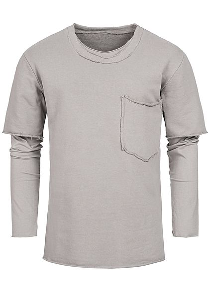 Seventyseven Lifestyle Men 2in1 Chest Pocket Boxer Crewneck beige