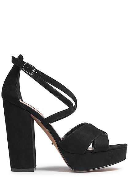 ONLY Damen Stiletto Sandalette Blockabsatz 12cm schwarz