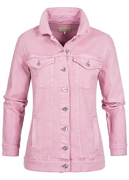 buy popular 74c03 b20e6 ONLY Damen Oversize Jeansjacke 2 Brusttaschen 2 Deko Taschen ...